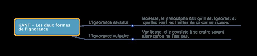 KANT - Les deux formes de l'ignorance